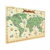 Afbeelding van Wereldkaart Van Vroeger - Houten plaat 80x60