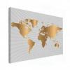 Wereldkaart Golden Waves