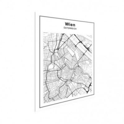 Stadskaart Wenen - Houten Plaat 60x80