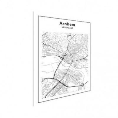 Stadskaart Arnhem - Houten Plaat 50x70