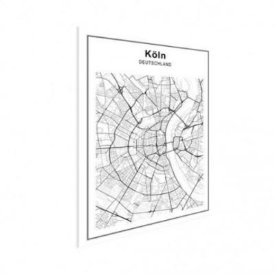 Stadskaart Keulen - Poster 60x40