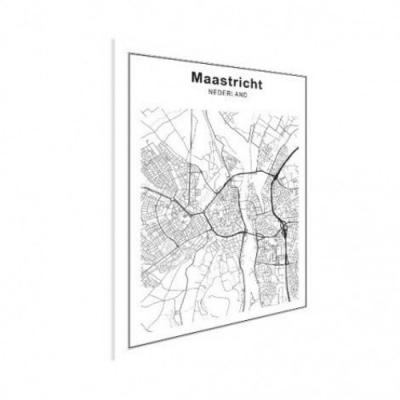 Stadskaart Maastricht - Houten Plaat 30x40
