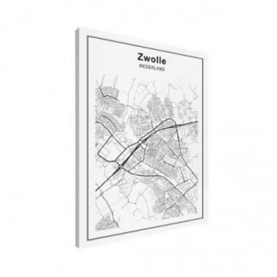 Stadskaart Zwolle - Canvas 30x40