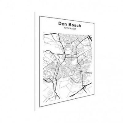 Stadskaart Den Bosch - Houten Plaat 60x80