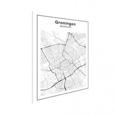 Stadskaart Groningen - Houten Plaat 50x70