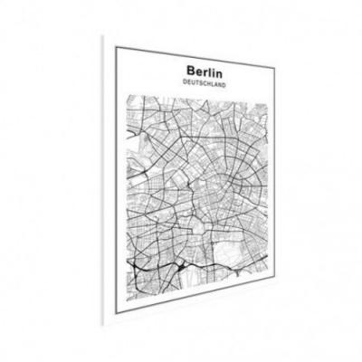 Stadskaart Berlijn - Houten Plaat 30x40