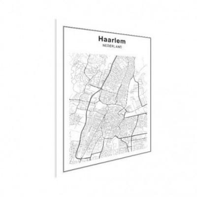Stadskaart Haarlem - Houten Plaat 30x40