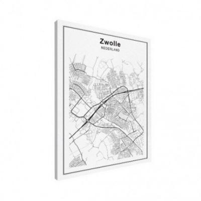 Stadskaart Zwolle - Houten Plaat 50x70