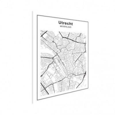 Stadskaart Utrecht - Houten Plaat 30x40