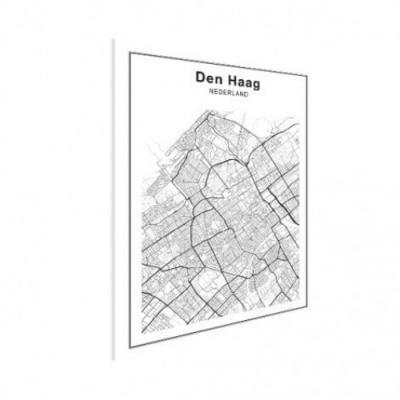 Stadskaart Den Haag - Houten Plaat 30x40