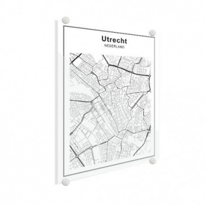 Stadskaart Utrecht - Plexiglas 50x70