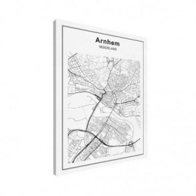 Stadskaart Arnhem - Canvas 50x70