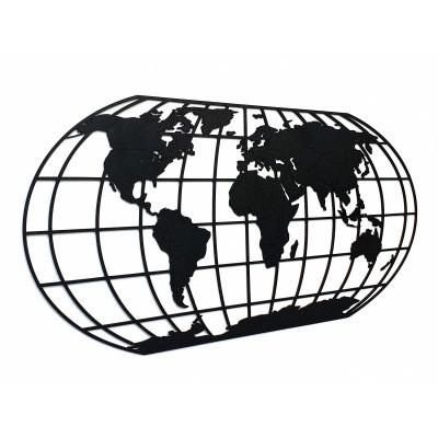 Afbeelding van Houten Wereldkaart The Globe Night Sky