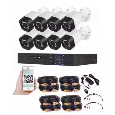Foto van Beveiligingscamera set met 8x bekabelde Bullit Camera's