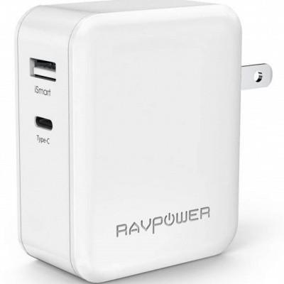 Foto van RAVPower Wandlader 45W Type C And USB EU