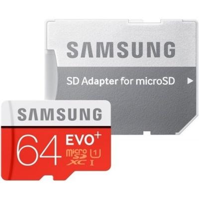 Foto van Samsung 64GB microSD EVO Plus 60MB/s met adapter