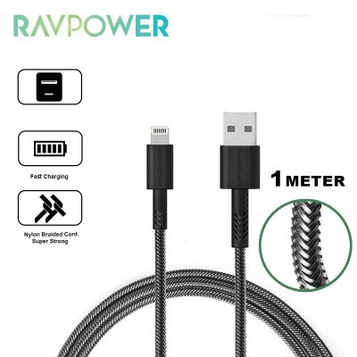 Foto van RAVPower USB to Lightning Kevlar Braided Cable