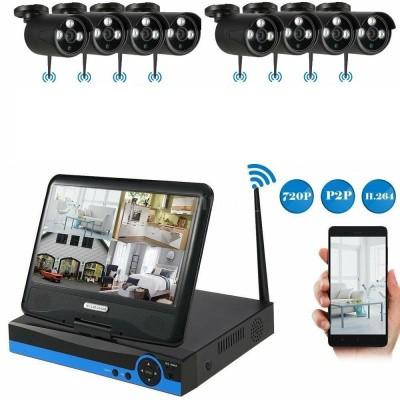 Afbeelding van Beveiligingscamera set 8x Wifi Bullit Camera's met 10.1Inch Scherm