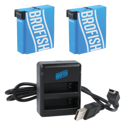 Foto van Brofish Dual Battery Charger Kit For HERO4