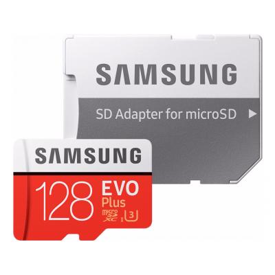 Foto van Samsung 128GB microSD EVO Plus 100MB/s met adapter