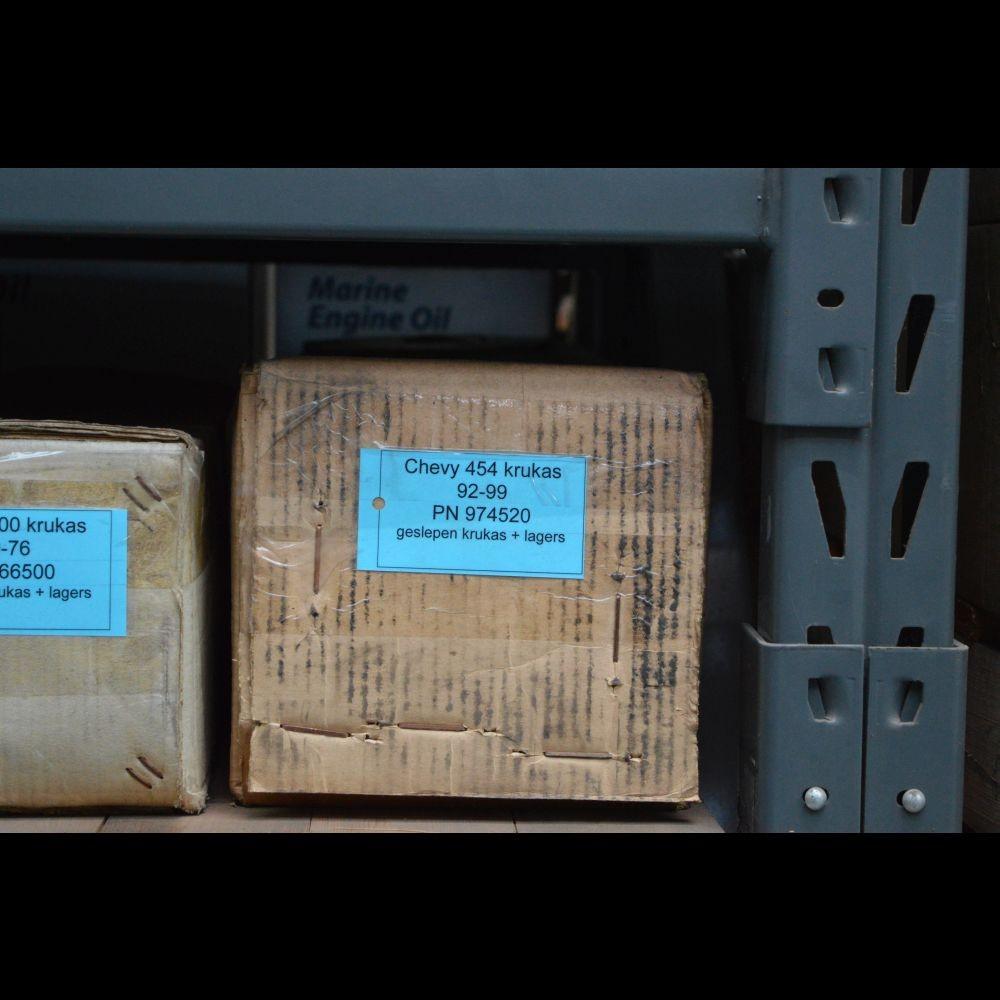 Geslepen Chevr. 454 krukas 92-99 + lagers