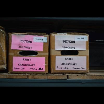 Geslepen Chevr. 350 krukas 55-86 + lagers