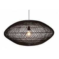 Foto van Rotan hanglamp Medemblik zwart 80cm 510086