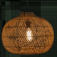 Foto van Hanglamp Snake (appel) rotan 40x30 510053
