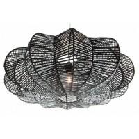Foto van Rotan hanglamp Hauwert 80cm zwart 510099