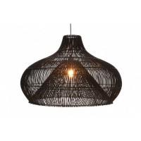 Foto van Rotan hanglamp Twisk zwart 510097 70cm