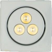 Foto van 3 STUKS LED inbouwspot 3x1W incl.driver wit vk kantelbaar NIET DIMBAAR