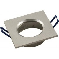 Foto van Inbouwarmatuur vierkant Geborsteld aluminium 148-552