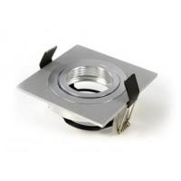Foto van Inbouw armatuur vierkant geborsteld aluminium 148-559