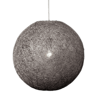 Foto van Hanglamp Abaca doorsnede in cm 60 beton 31560003
