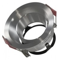 Foto van Inbouwarmatuur geborsteld aluminium Rond 148-564