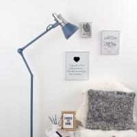 Foto van Steinhauer Brusk Blauw Vloerlamp 1-lichts 7742BL