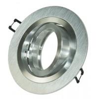 Foto van Inbouwarmatuur geborsteld aluminium Rond 148-026