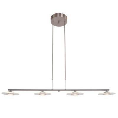 Steinhauer Roundy LED Staal Hanglamp 4-lichts 7710ST