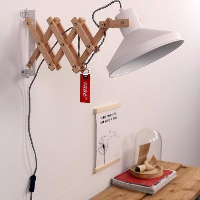 Steinhauer woody scissors Wit Wandlamp 1-lichts 7900BE