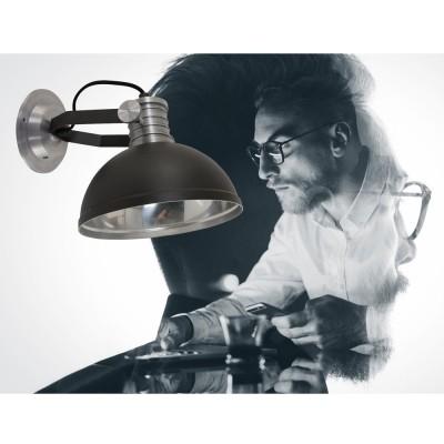 Steinhauer Brooklyn Zwart Wandlamp 1-lichts 7717ZW