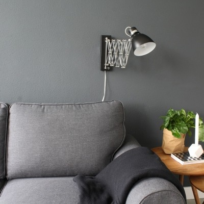 Steinhauer Spring Zwart Wandlamp 1-lichts 6290ZW