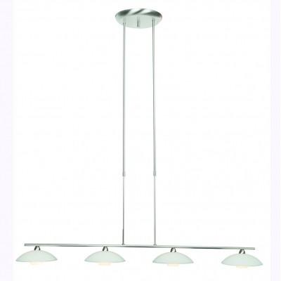 Steinhauer Aleppo Staal Hanglamp 4-lichts 3281ST