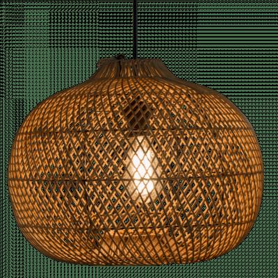 Hanglamp Snake (appel) rotan 60x50 510054