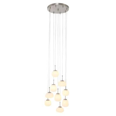 Hangl. 9-l. glas LED (1492st) 2567ST