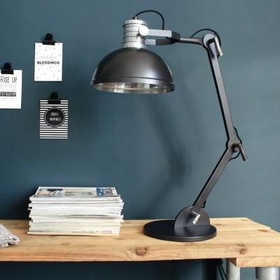 Steinhauer Brooklyn Zwart Tafellamp 1-lichts 7715ZW