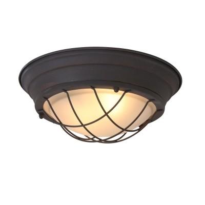 Steinhauer Mexlite Bruin Plafondlamp 1-lichts 1358B