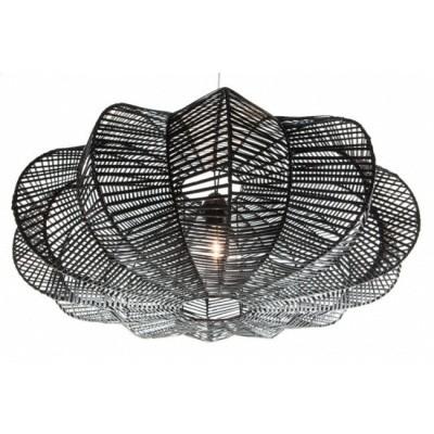 Rotan hanglamp Hauwert 80cm zwart 510099