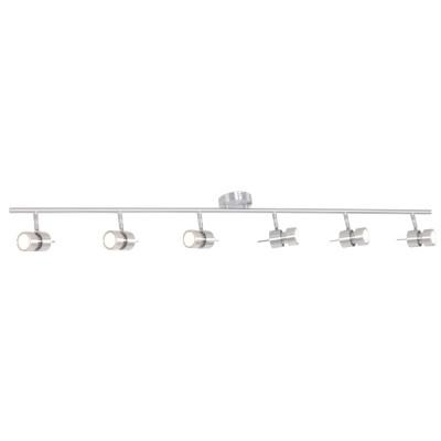 Steinhauer Natasja LED Staal Plafondlamp 6-lichts 7906ST