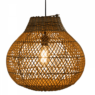 Hanglamp Doetinchem (peer) rotan 40x40 510055