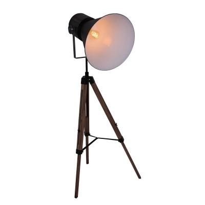 Steinhauer hoody tripod Zwart Vloerlamp 1-lichts 1458ZW
